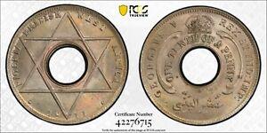 PCGS MS-64 BRITISH WEST AFRICA 1/10 PENNY 1911 -H (POP: 2/2)