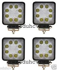 4 x 8 luces LED TRABAJO Foco 24w Bar Flood Offroad todoterreno Camión ATV 12v