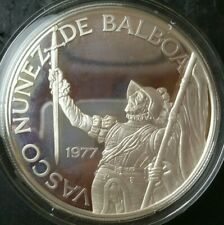 1977 Panama Proof 20 Balboa Sterling Silver Coin