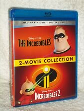 The Incredibles/The Incredibles 2 [2005/2018] (Blu-ray/Dvd, 2021) Disney Pixar