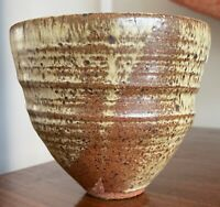 Vintage 70s Hand Crafted Studio Pottery Ceramic Stoneware Planter Modern As Is