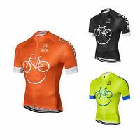 Funny Cycling Jersey Mens Bicycle Cycle Biking Shirt Jersey Green/Orange/Black