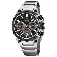 Festina Man Chronograph watch Black dial F16775/E steel bracelet