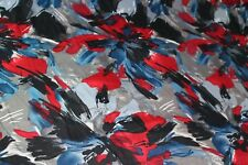 Stretch polyester lycra/jersey abstract floral dress fabric  £5.50/m 1.40m wide