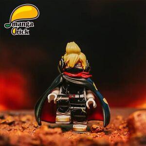 ⎡MANGA BRICK⎦  Pre-order Custom ONE PIECE Black Stealth Sanji Lego Minifigure