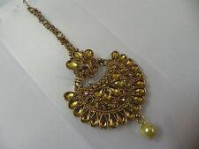 Indian Bollywood  Goldtone Maang Tikka Wedding Bridal Matha Patti Jewelry
