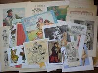job lot of ephemera, c.30+ pieces, Subject:CHILDHOOD  (New)
