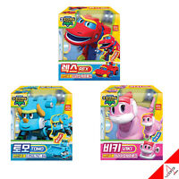 Gogo Dino Mini Dinosaur Transformer Robot Best 3pc Set - REX TOMO VIKI /4.7 inch