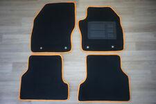 Car Floor Mats Front & Rear for Ford Focus LS/LT/XR5: 07/2005 - 07/2011 (Orange)