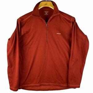Patagonia Mens Capilene Pullover Shirt Rusty Brown 1/4 1/2 Zip Sz Medium