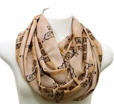 Brown tequila infinity scarf birthday gift for her bff girlfriend anniversary