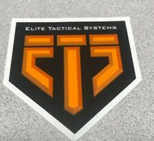 ELITE TACTICAL SYSTEMS Authentic Sticker Decal  Firearms Hunting Gun
