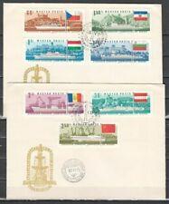 Echte Briefmarken aus Ungarn mit Ersttagsbrief-Erhaltungszustand