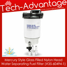 MARINE UNIVERSAL MERCURY WATER SEPARATING FUEL FILTER KIT CLEAR BOWL WITH DRAIN