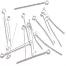 200 Silver Plated Iron Eyepins - F0005 / 50mm