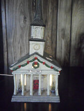 "HEARTLAND VALLEY VILLAGE PORCELAIN LIGHTED HOUSE ""TOWN HALL"" Christmas village"