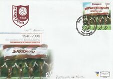 BOSNIA HERZEGOVINA 2006 SARAJEVO FOOTBALL CLUB ANNIVERSARY STAMP FIRST DAY COVER