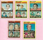 1972 Topps Football League Leaders Staubach Griese Csonka Dawson 5 card lot