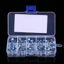 100x Potentiometer Trimpot Variable Resistor Assortment Box Kits 500ohm 1m Ohm