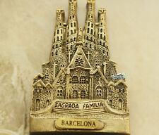 Sagrada Familia, Barcelona, Spain Tourist Travel Souvenir 3D Fridge Magnet Craft