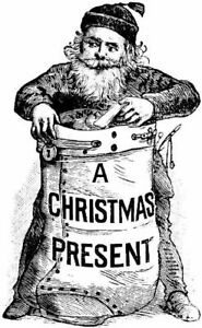Christmas - Santa - Sack - Victorian Unmounted Clear Stamp Approx 38x60mm