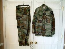 1982 US Army 2nd Inf Div Military Woodland Combat Coat Trousers Camo Pattern BDU