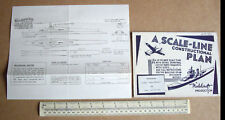 1940 S Vintage Home Front Modelcraft plan nous submariine USS NAUTILUS (MICROMODEL