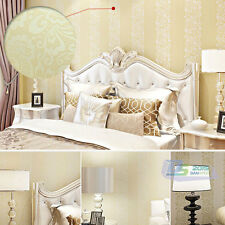 Washable Non-woven Flocking Wallpaper Wall Paper Roll TV Background Home Decor