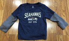 NFL Seattle Seahawks Football Long Sleeve Top~ Infant Toddler 12-18 Months - EUC