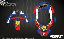 Rockstar Motocross Leatt Brace Gráficos Pegatinas Para Cuello Brace MX Bluered Color
