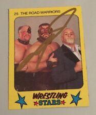 1986 Monty Gum Super Wrestling Stars #25 The Road Warriors Animal Auto