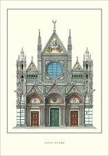 Siena Dom poster stampa d'arte immagine MANIFESTO 69x100cm