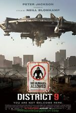 DISTRICT 9 MOVIE POSTER Original DS GLOSSY 27x40 MINT ORIGINAL!!