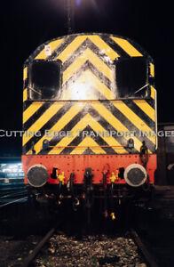Original Railway Slide: Night Shot of Diesel Shunter 1989 Location?       27/150