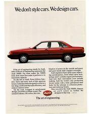 1986 AUDI 5000S Red 4-door Hardtop Vintage Ad
