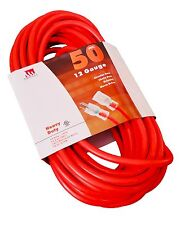 50-Foot 12 Gauge Extension Cord UL Lit End 3 Wire 12/3 Heavy Duty Ft Feet