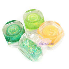 4 pcs 8ml UV Builder Glitter Green Orange Color Gel Nail Art Acrylic Polish