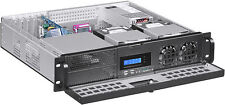 "2U (ATX) LCD 250W PSU (5.25""+7xHDD)Rackmount D14.96""(3xHorizontal Riser)Case NEW"