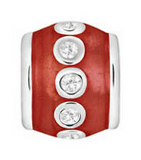 LOVELINKS BY PASTICHE  ENAMEL RED  SILVER SPACER CUBIC ZIRCONIA  TE018CZRD MINT