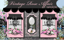 Chic Fashion Shabby Boutique Roses Mobile Friendly Ebay Auction Listing Template