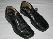 Stanley Blacker 9M Black leather Men's lace up made in Italy oxford Dress Loafer
