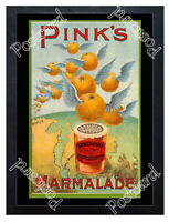 Historic Pink's Marmalade, London, 1890s Advertising Postcard
