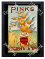 Historic Pink's Marmalade, London, 1890s Advertising Postcard