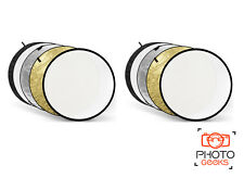 2 xLight Reflector 80cm Circular Multi Collapsible 5in1 Popup Photo Studio Video