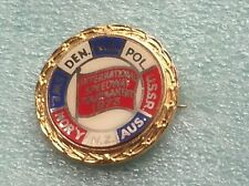 INTERNATIONAL SPEEDWAY TOURNAMENT 1973 OFFICIAL PIN BADGE VERY GOOD CONDITION