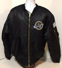 Rock On All Systems Go 2012 Bomber Jacket Space Intel HP Patches Mens XXL NWT