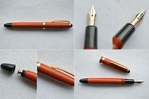 Montblanc Masterpiece #202 Coral Red Gold Fountain Pen 14C Flex Nib EF-BB #2