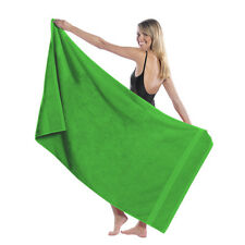 "TowelSoft King Size DobbyHemLoopTerry Beach Towel,100% Cotton-35""Wx65""L-LIME GRN"