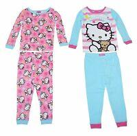Hello Kitty Baby Girls' 4-Piece Cotton Pajama Set