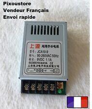 Mini alimentation stabilisée 9 Vdc 1,1 A neuve Alu JCA 10-9 10 watts